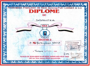 09 - FFKBFCDA - Diplome d'instructeur - 08.03.1996