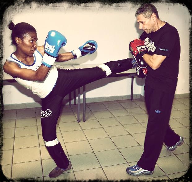 Flora Yanga à l'entrainement