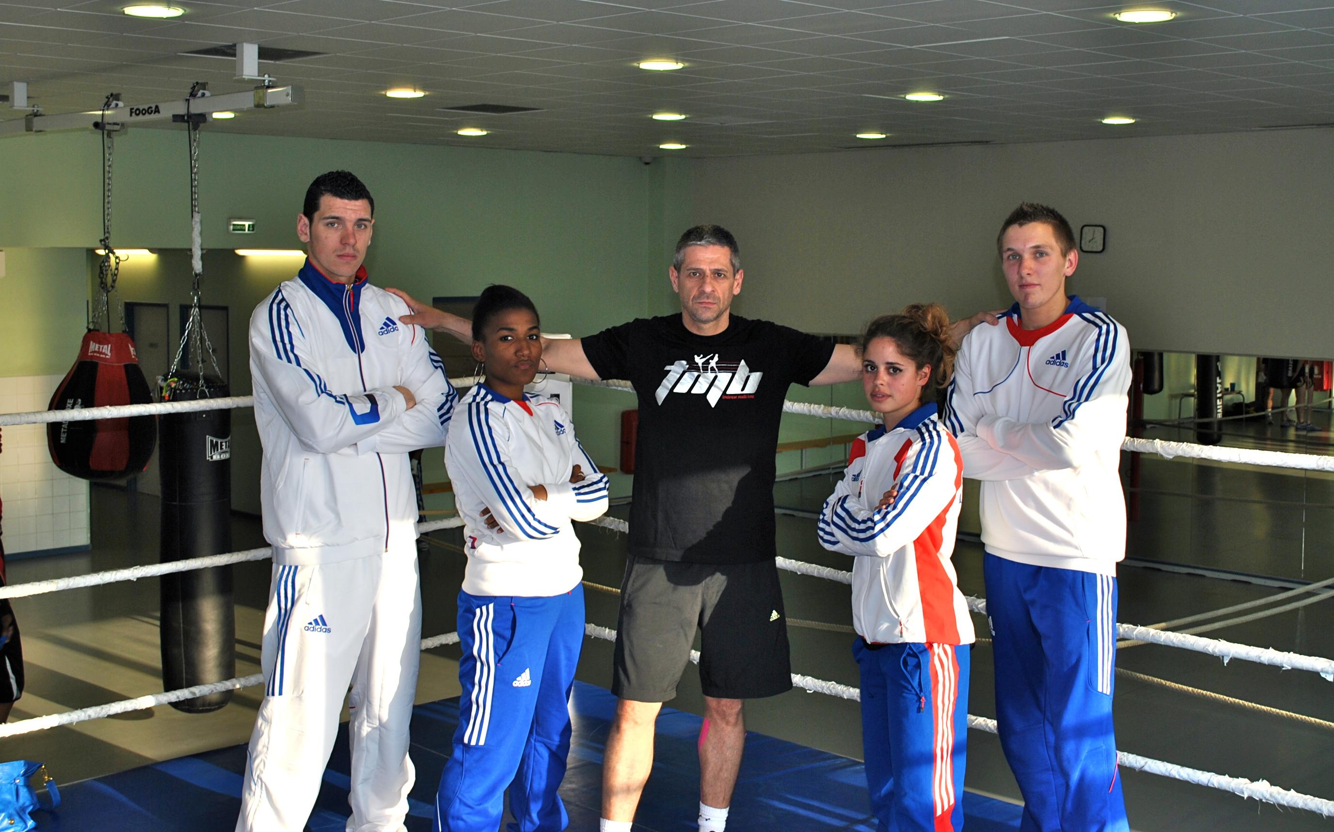 Les membres de l'équipe de France