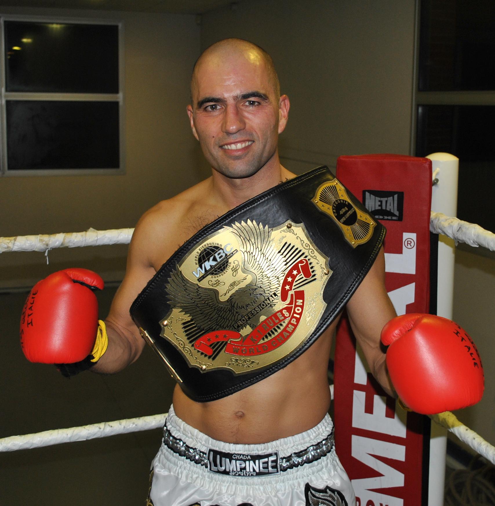 Christophe Vidoni et sa ceinture mondiale