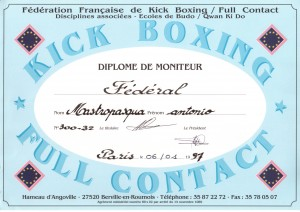 11 - FFKBFCDA - Diplome de moniteur Federal - 06.01.1997