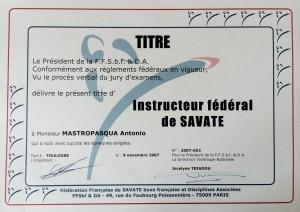 19 - FFBFSDA - Instructeur federal de savate - 09.11.2007